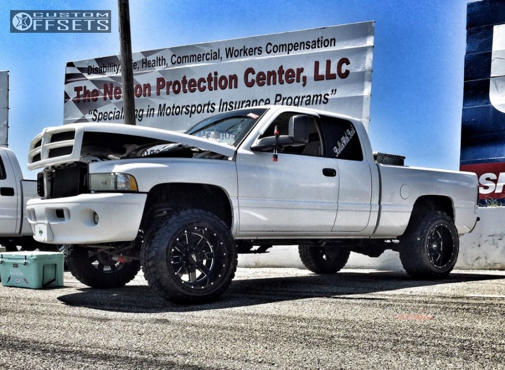 dodge ram  moto metal mo rough country suspension lift  custom offsets