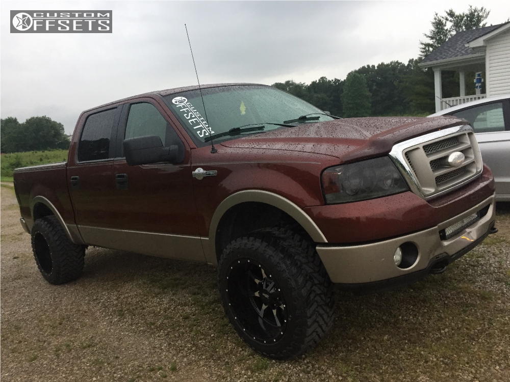 Custom 2006 Ford F150 >> 2006 Ford F 150 Moto Metal Mo970 Rough Country Leveling Kit
