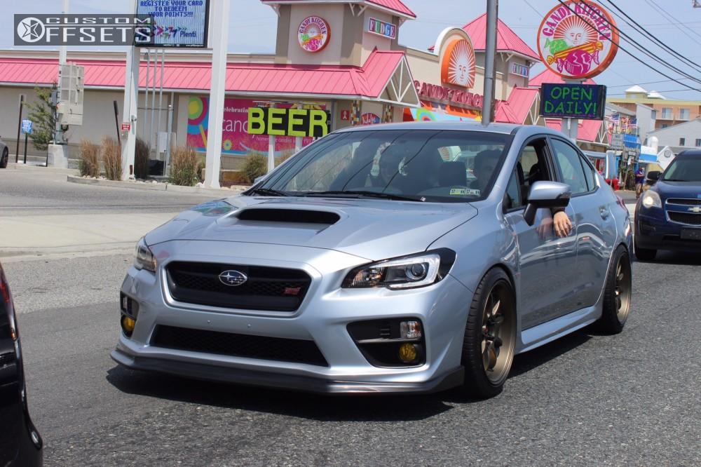 2017 Subaru Wrx Sti Work D9r Bc Racing Coilovers   Custom