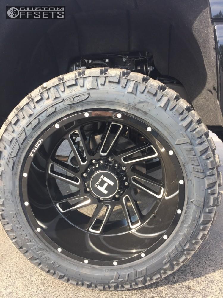5 2017 Silverado 2500 Hd Chevrolet Suspension Lift 5 Hostile Stryker Black Super Aggressive 3 5