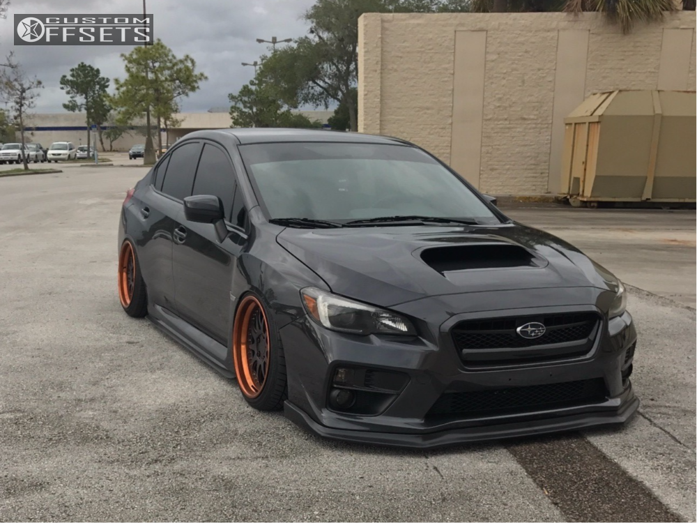 Wheel Offset 2016 Subaru Wrx Tucked Bagged Custom Offsets