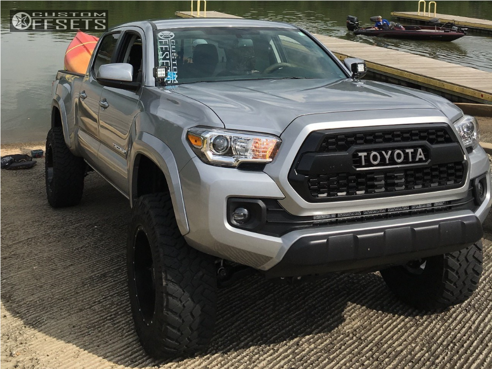 2017 Toyota Tacoma Lifted >> Wheel Offset 2017 Toyota Tacoma Slightly Aggressive
