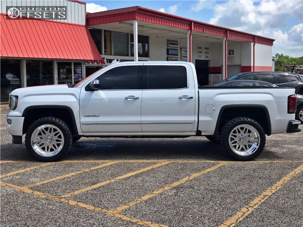 2 2017 Sierra 1500 Gmc Leveling Kit American Force Trax Ss Polished Slightly Aggressive