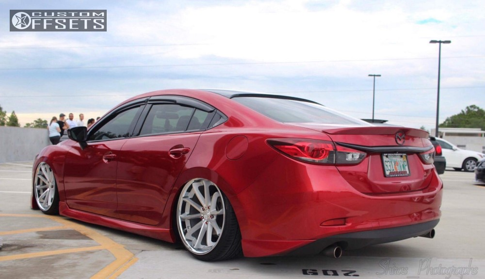 Wheel Offset 2015 Mazda 6 Tucked Bagged