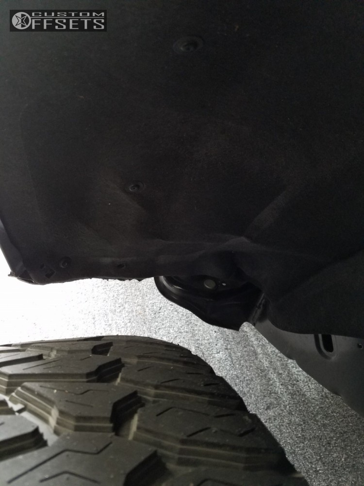 8 2016 Colorado Chevrolet Leveling Kit Body Lift Havok H109 Machined Black Super Aggressive 3 5