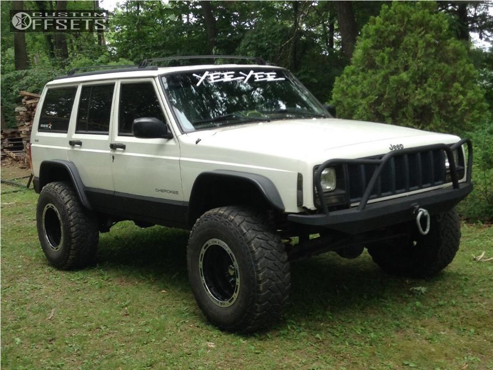 1 1998 Cherokee Jeep Suspension Lift 45 Alloy Ion Style 133 Black Super Aggressive 3 5