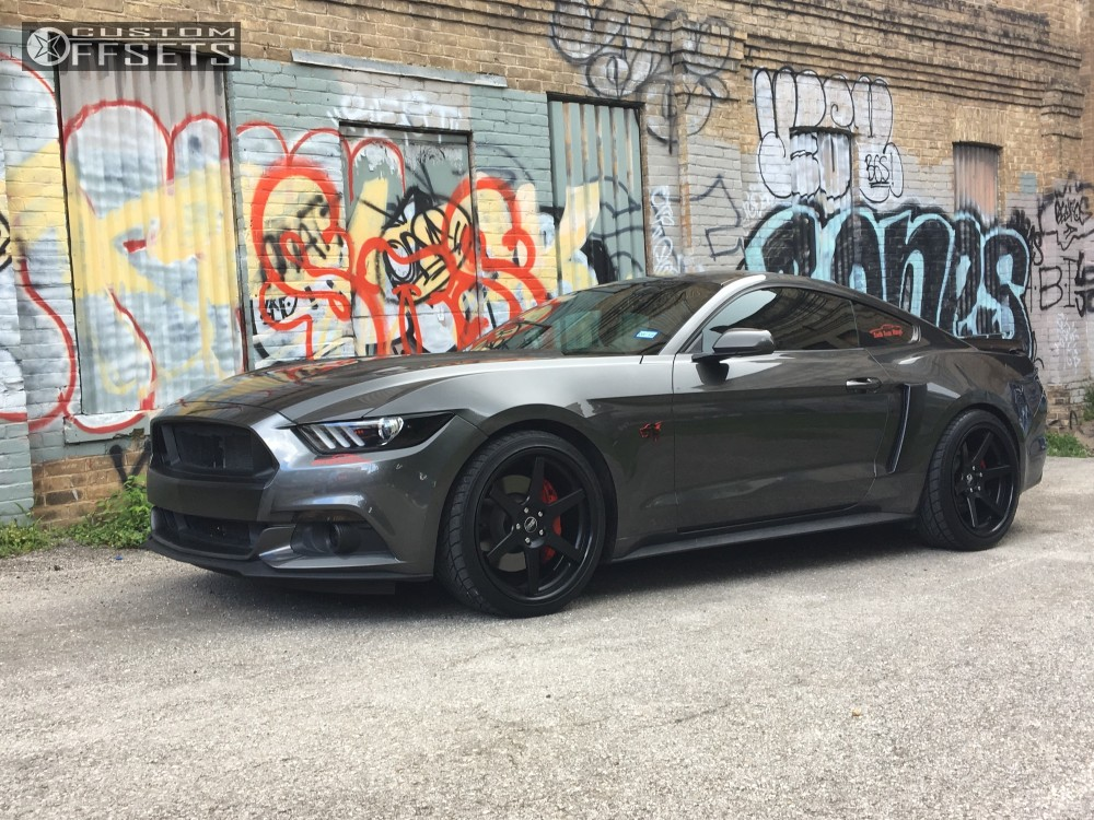 1 2016 mustang ford stock concept one c 10 matte black flush
