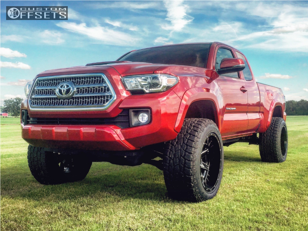 1 2017 Tacoma Toyota Suspension Lift 3 Hostile Alpha Machined Black Aggressive 1 Outside Fender