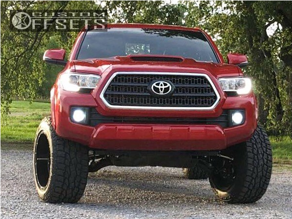 2 2017 Tacoma Toyota Suspension Lift 3 Hostile Alpha Machined Black Aggressive 1 Outside Fender