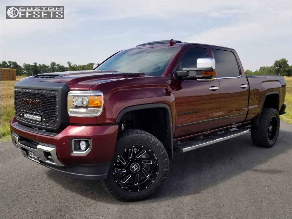 1 2017 Sierra 2500 Hd Gmc Cognito Leveling Kit Hostile Stryker Machined Accents