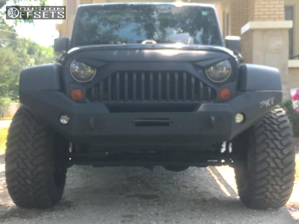 2 2012 Wrangler Jeep Daystar Leveling Kit Red Dirt Road Lander Machined Black