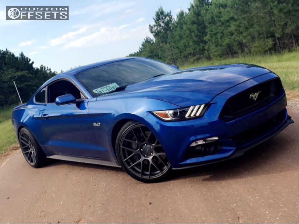 Wheel Offset 2017 Ford Mustang Nearly Flush Lowering Springs