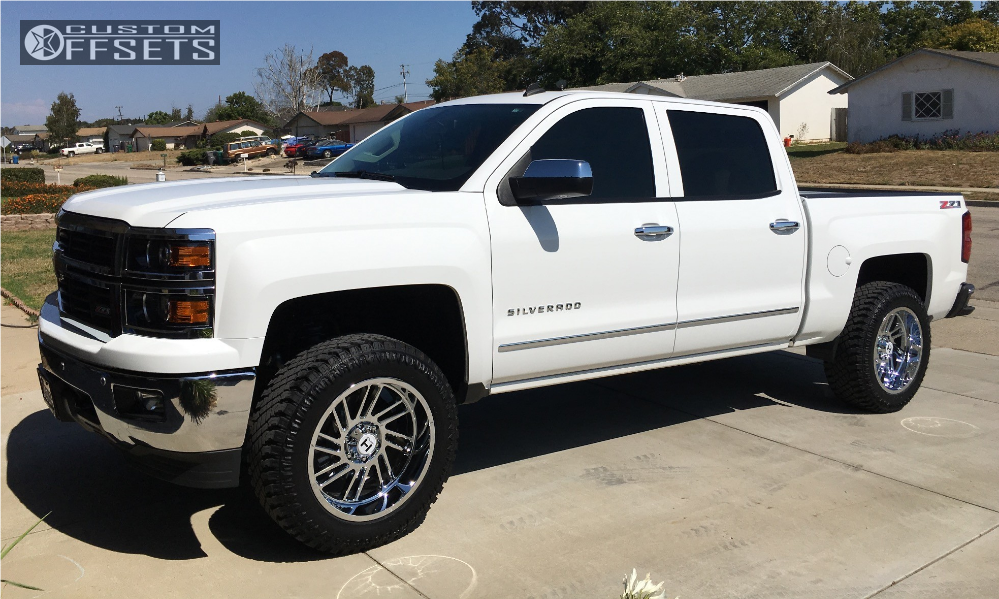 1 2014 Silverado 1500 Chevrolet Leveling Kit Hostile Stryker Chrome Slightly Aggressive