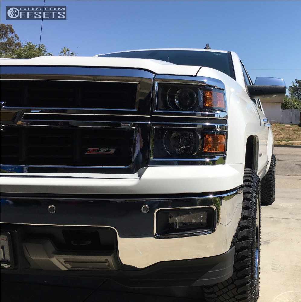 2 2014 Silverado 1500 Chevrolet Leveling Kit Hostile Stryker Chrome Slightly Aggressive