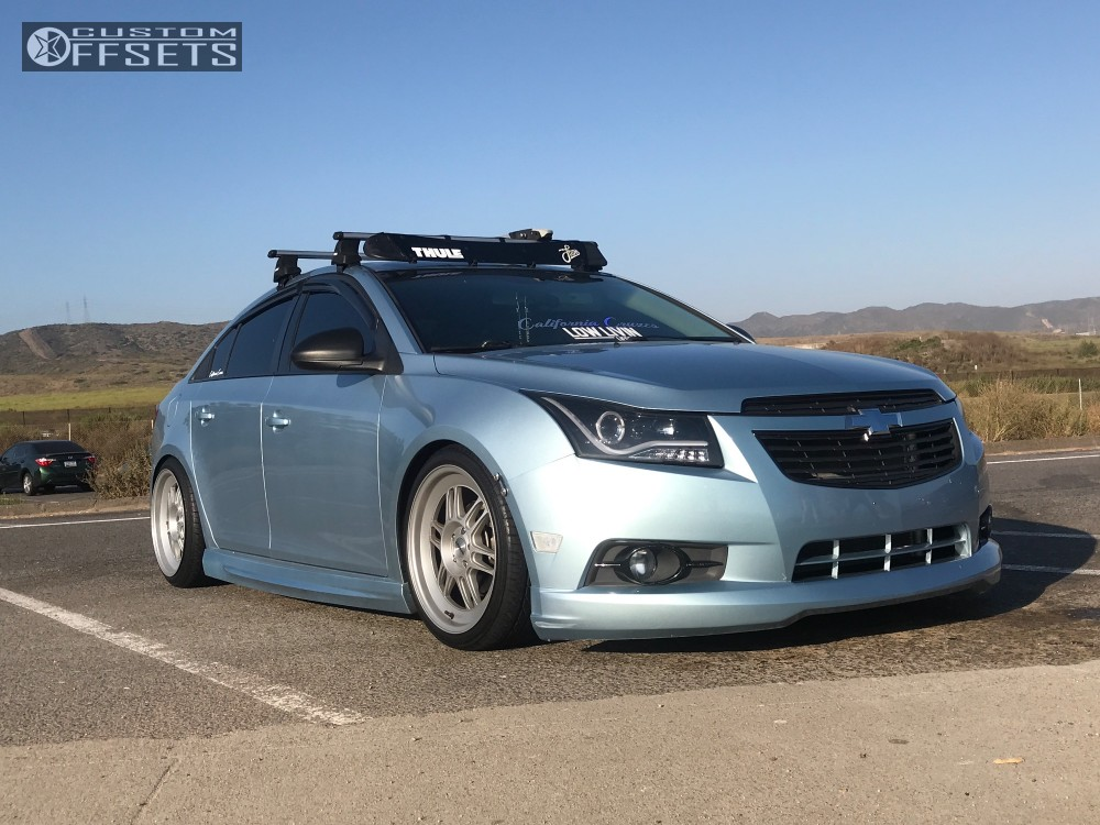 Wheel Offset 2011 Chevrolet Cruze Nearly Flush Coilovers