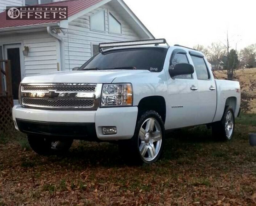 wheel offset 2008 chevrolet silverado 1500 flush leveling. Black Bedroom Furniture Sets. Home Design Ideas