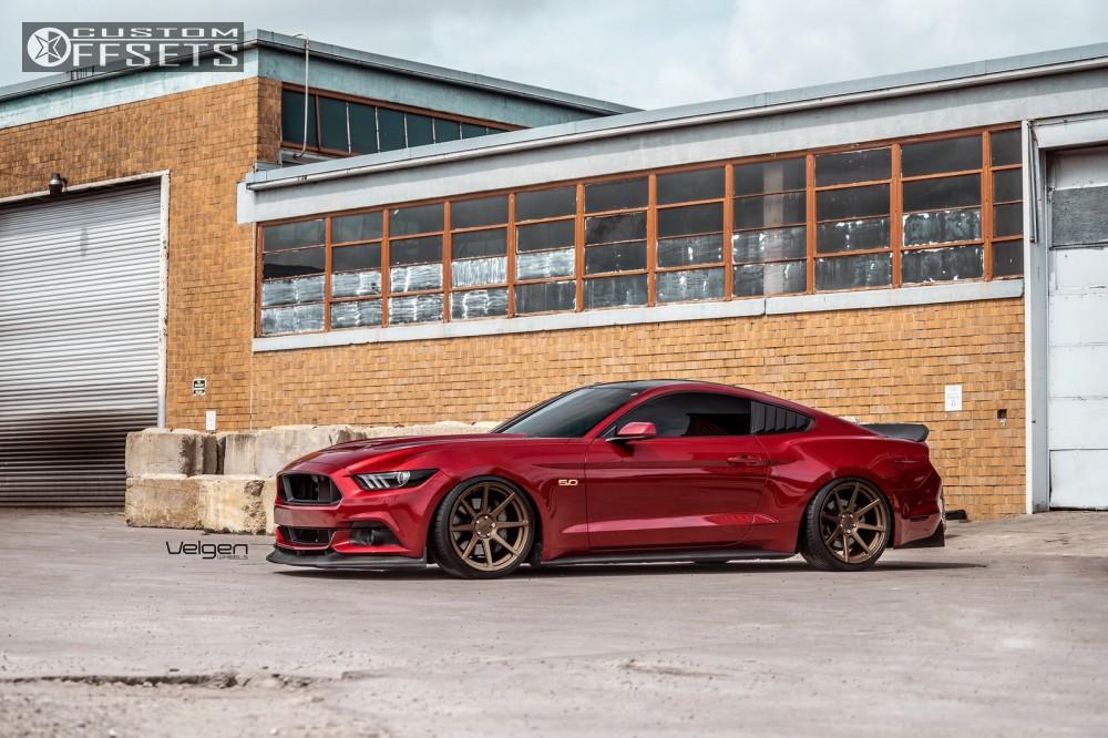1 2016 Mustang Ford Accuair Bagged Velgen Wheels Vmb8 Bronze