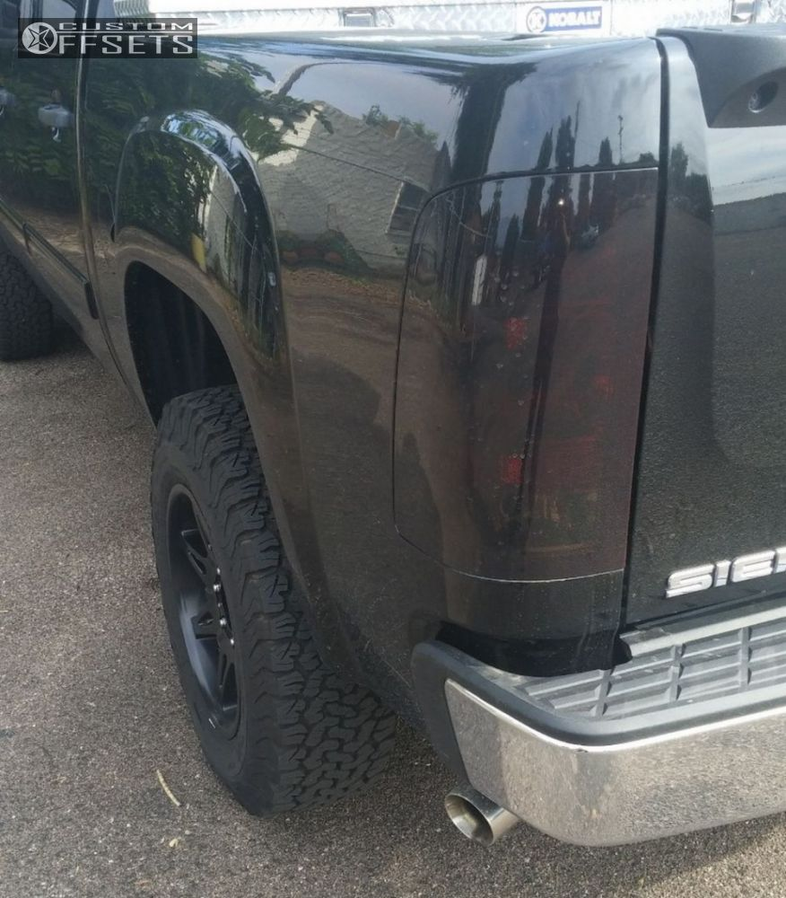 2007 gmc sierra 1500 moto metal mo961 rough country for Suspension metal