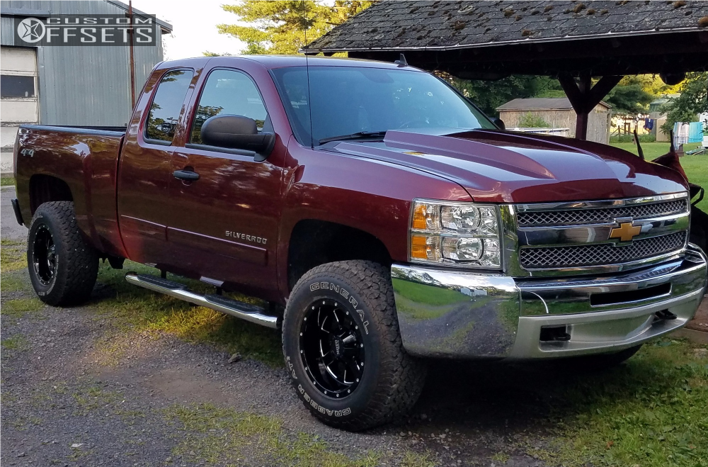 1 2013 Silverado 1500 Chevrolet Rough Country Leveling Kit Moto Metal Mo962 Machined Black