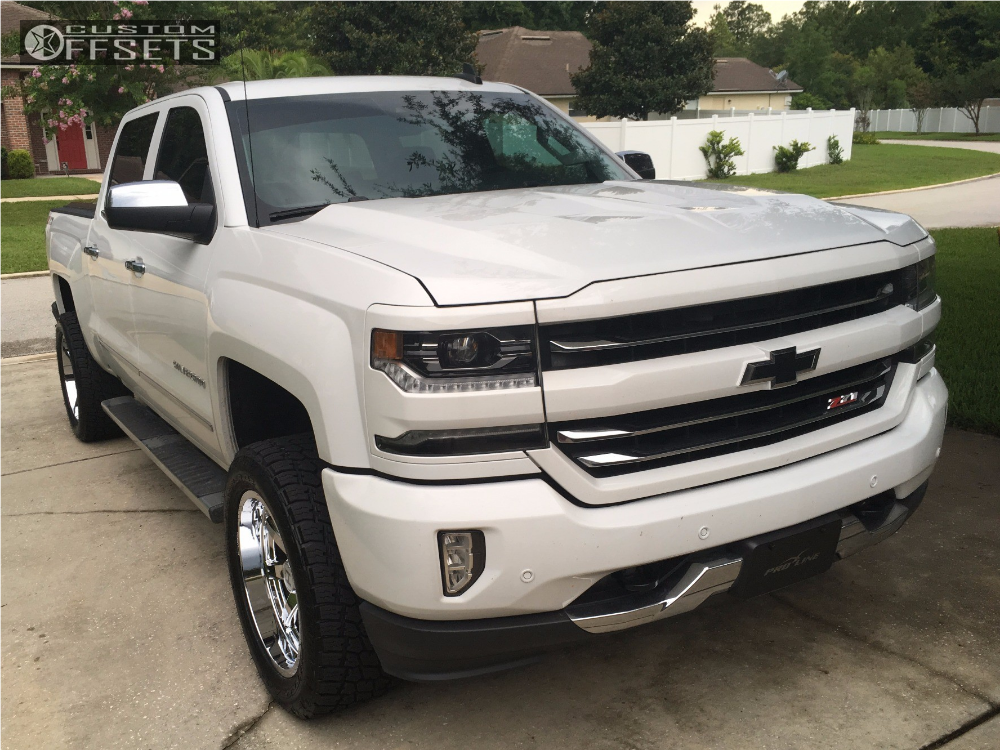1 2016 Silverado 1500 Chevrolet Motofab Suspension Lift 25in Hostile Alpha Chrome