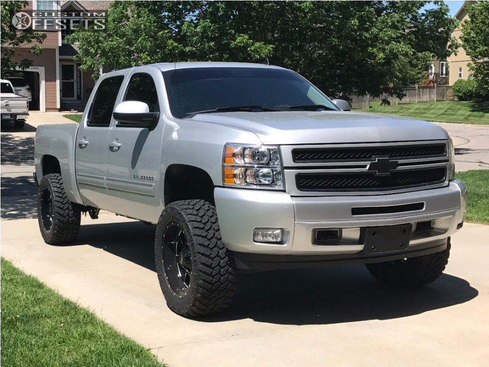 2012 chevrolet silverado 1500 moto metal 962 rough country suspension lift 5in offsets garage. Black Bedroom Furniture Sets. Home Design Ideas
