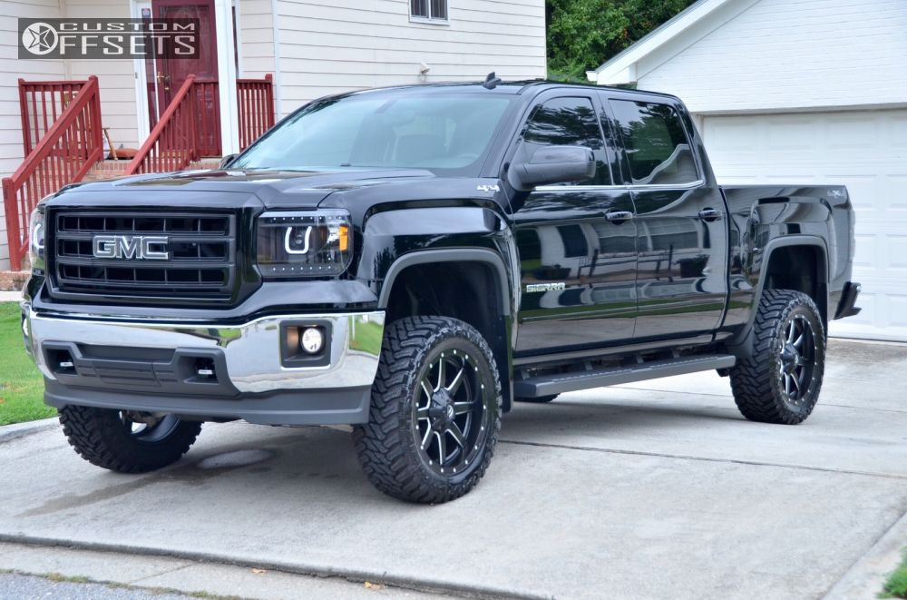gmc trucks 2014 lifted. 1 2014 sierra 1500 gmc leveling kit body lift fuel maverick black aggressive outside fender trucks lifted w