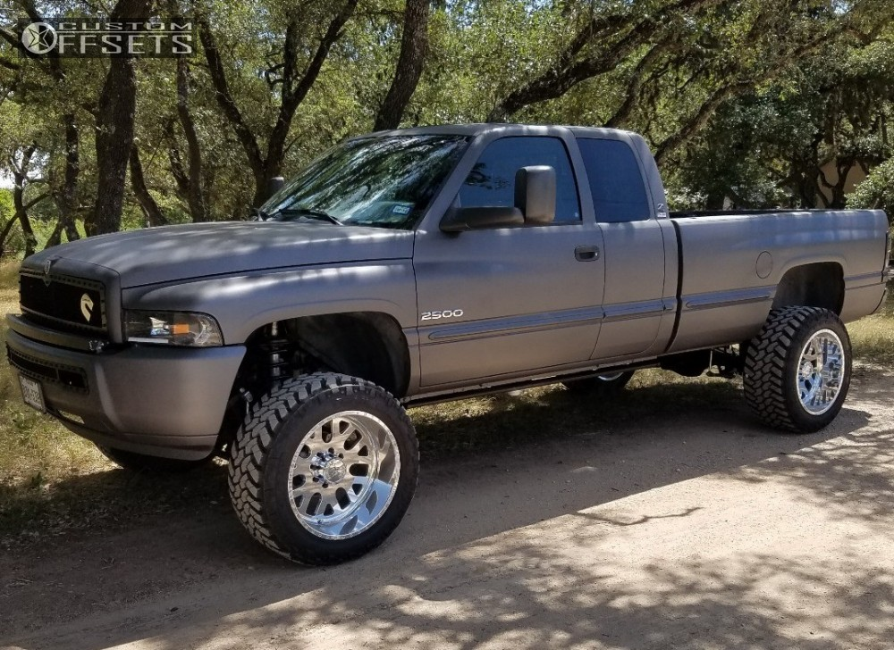1 1999 Ram 2500 Dodge Zone Suspension Lift 5in American Force Elite Ss Polished