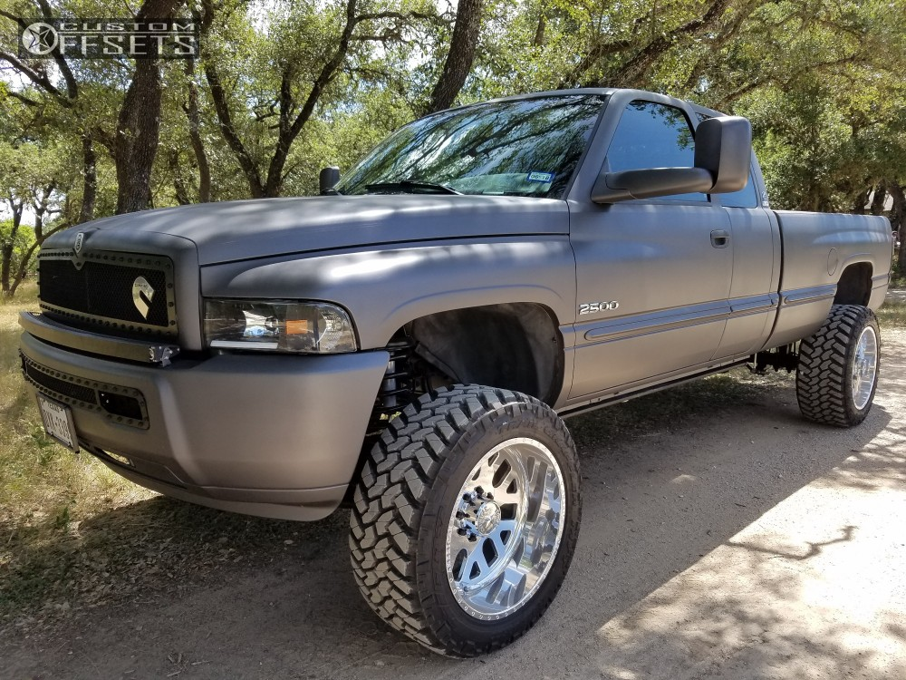 8 1999 Ram 2500 Dodge Zone Suspension Lift 5in American Force Elite Ss Polished