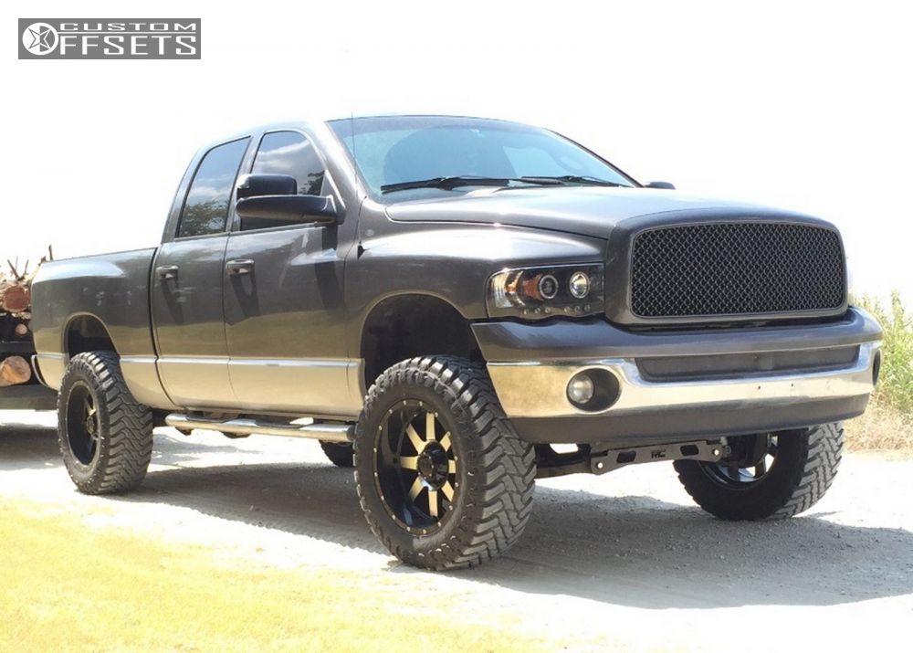 1 2003 Ram 1500 Dodge Suspension Lift 5 Gear Alloy Big Block 726m Black Super Aggressive 3 5