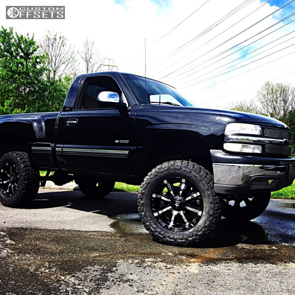 wheel offset 2001 chevrolet silverado 1500 aggressive 1. Black Bedroom Furniture Sets. Home Design Ideas