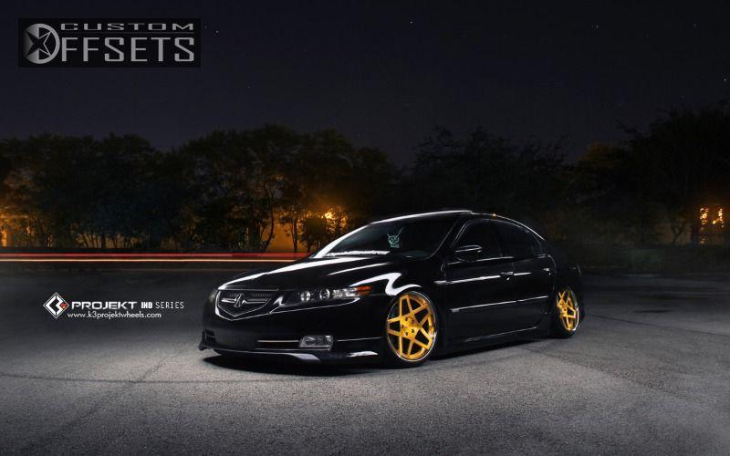 Wheel Offset Acura Tl Tucked Bagged Custom Rims - Acura tl gold rims