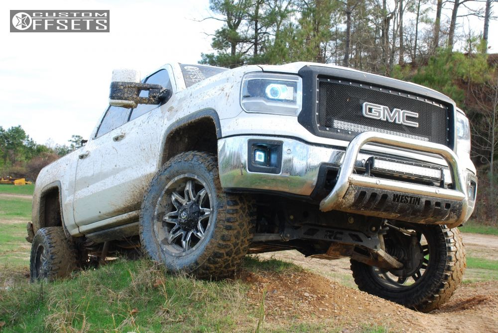 1 2014 Sierra 1500 Gmc Suspension Lift 6 Fuel Lethal Machined Accents Aggressive 1 Outside Fender
