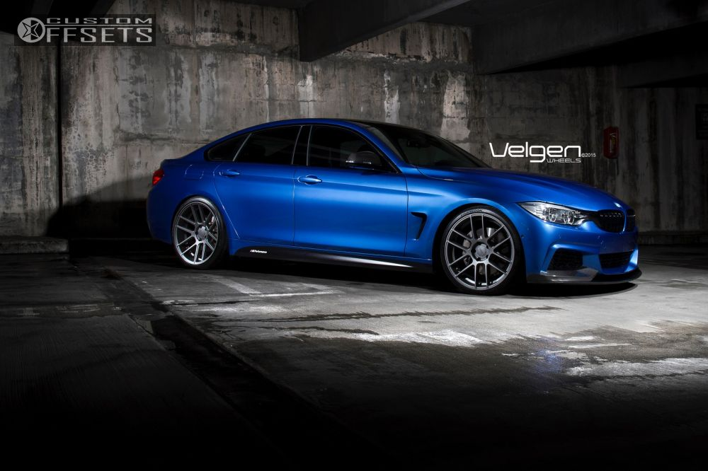 Wheel Offset 2015 Bmw 435i Gran Coupe Flush Lowered On