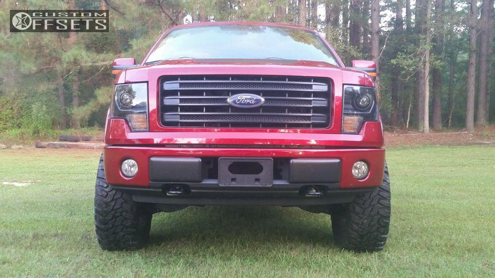 11 2014 F 150 Ford Suspension Lift 3 Stock Stock Black Aggressive 1 Outside Fender
