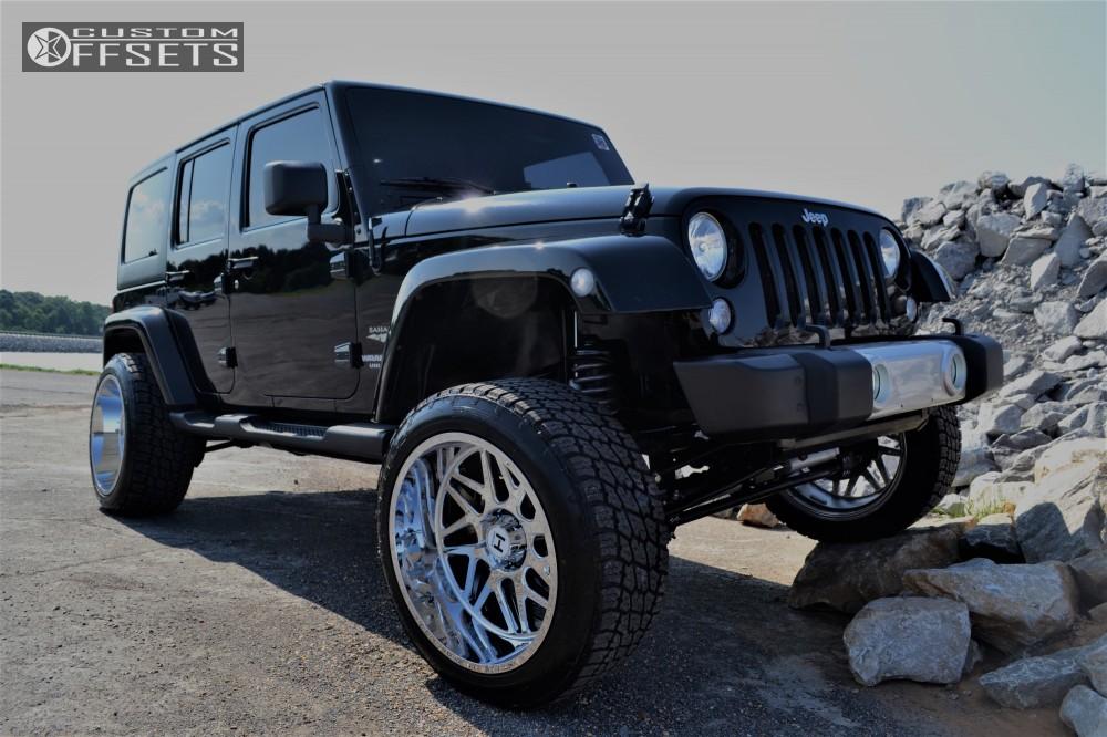 1 2011 Wrangler Jeep Rough Country Suspension Lift 35in Hostile Sprocket Chrome