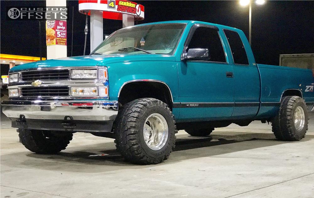 Chevy Silverado Custom Wheels >> 1995 Chevrolet K1500 Billet Specialties Gt53 Stock Level 2in Drop Rear