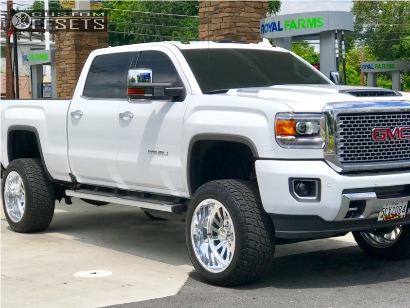 1 2017 Sierra 2500 Hd Gmc Zone Suspension Lift 5in American Force Octane Ss Chrome