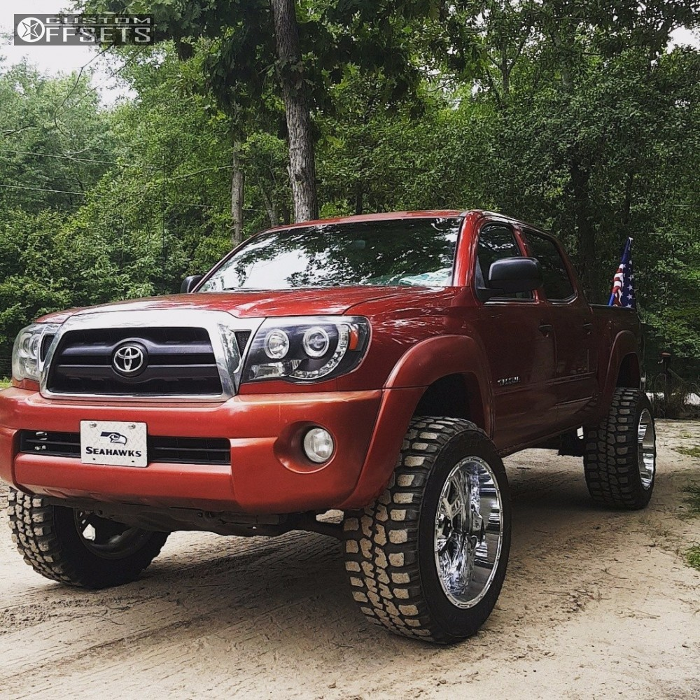 1 2006 Tacoma Toyota Rough Country Suspension Lift 3in Xd Riot Chrome