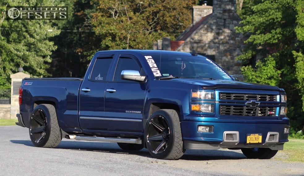 2015 Chevrolet Silverado 1500 Tuff T12 Mcgaughys Lowered 2f 4r