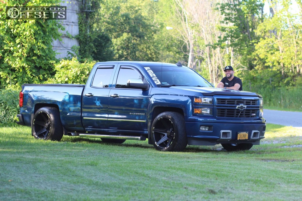 Chevy Silverado Custom Wheels >> 2015 Chevrolet Silverado 1500 Tuff T12 Mcgaughys Lowered 2f 4r