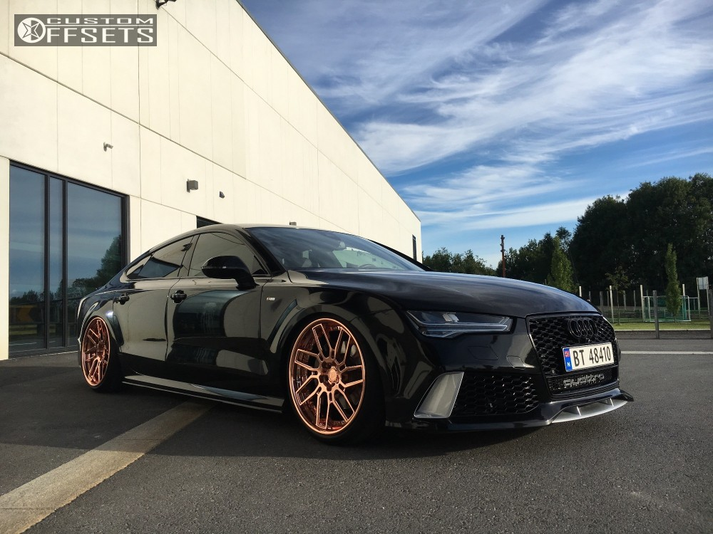 Wheel Offset 2015 Audi Rs7 Tucked Coilovers