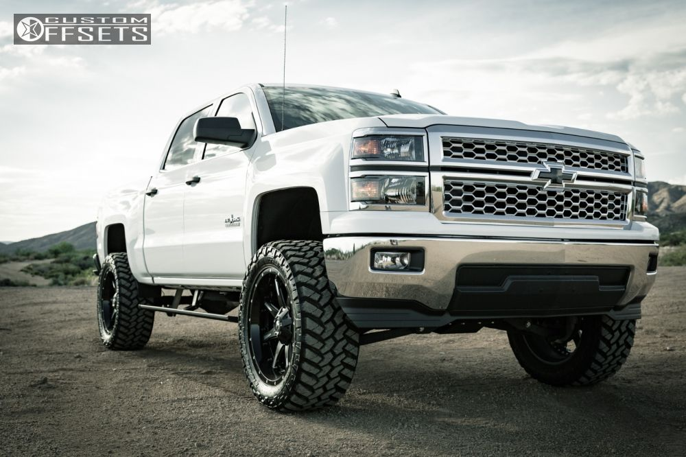 1 2014 Silverado 1500 Chevrolet Suspension Lift 6 Fuel Nutz Black Slightly Aggressive