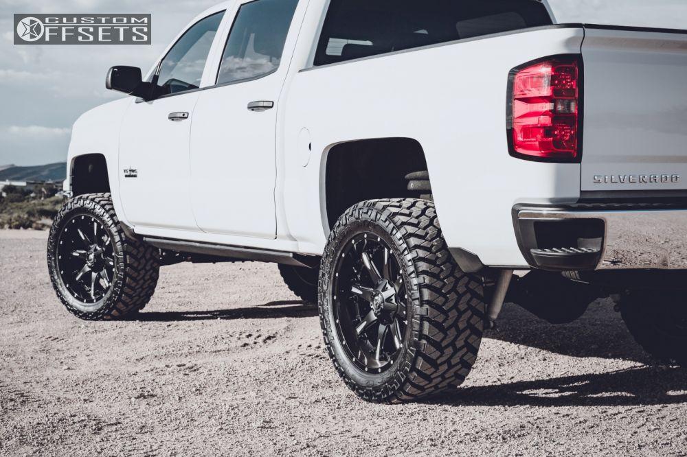 10 2014 Silverado 1500 Chevrolet Suspension Lift 6 Fuel Nutz Black Slightly Aggressive