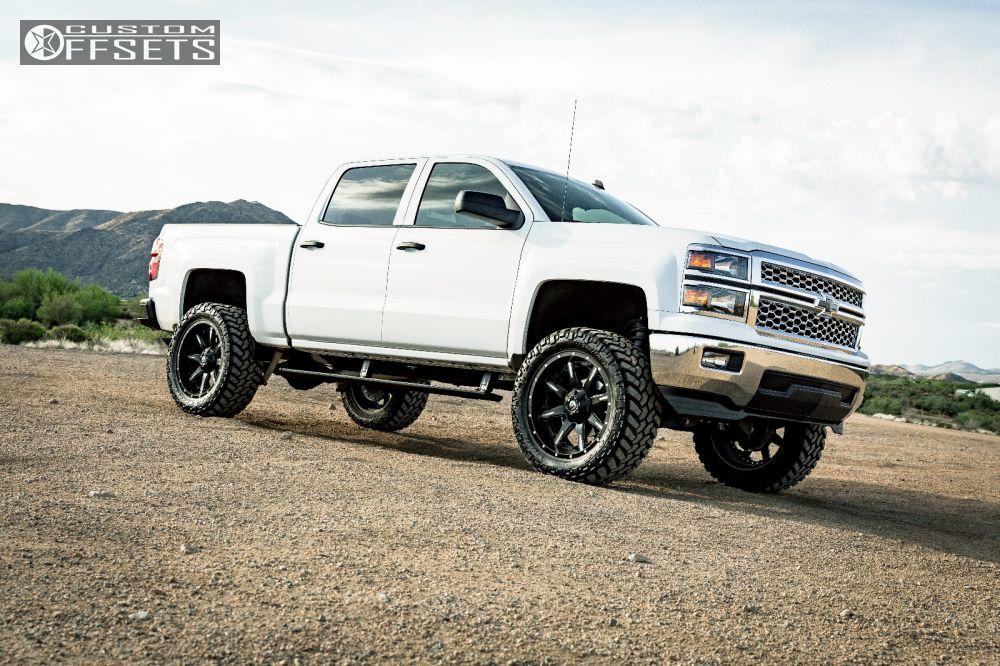 12 2014 Silverado 1500 Chevrolet Suspension Lift 6 Fuel Nutz Black Slightly Aggressive