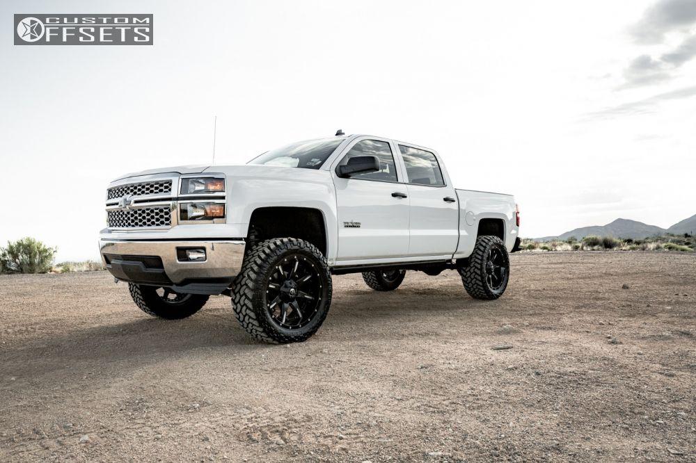 14 2014 Silverado 1500 Chevrolet Suspension Lift 6 Fuel Nutz Black Slightly Aggressive