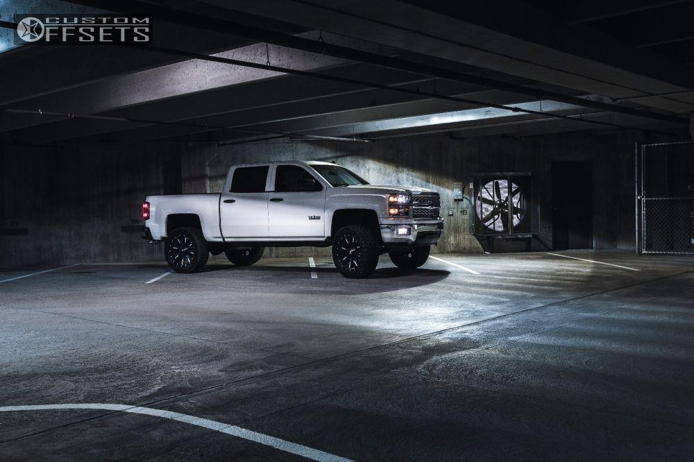 15 2014 Silverado 1500 Chevrolet Suspension Lift 6 Fuel Nutz Black Slightly Aggressive