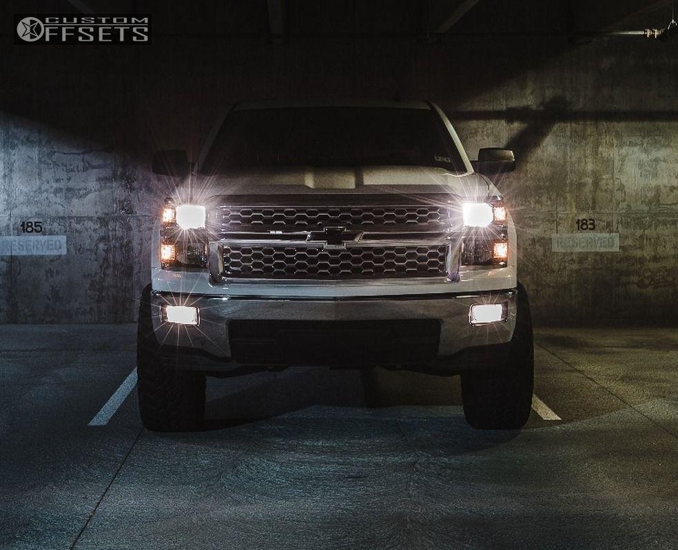 2 2014 Silverado 1500 Chevrolet Suspension Lift 6 Fuel Nutz Black Slightly Aggressive