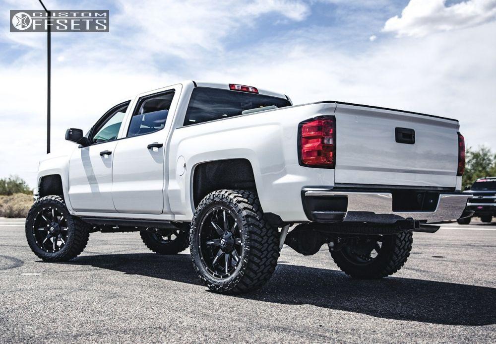 4 2014 Silverado 1500 Chevrolet Suspension Lift 6 Fuel Nutz Black Slightly Aggressive