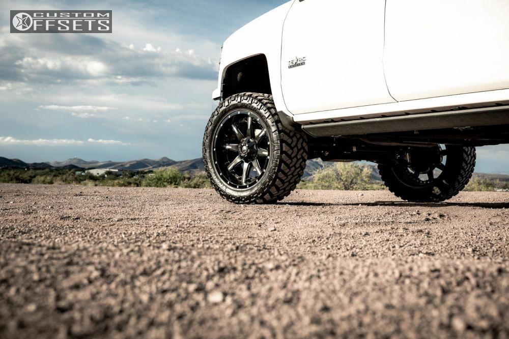 8 2014 Silverado 1500 Chevrolet Suspension Lift 6 Fuel Nutz Black Slightly Aggressive