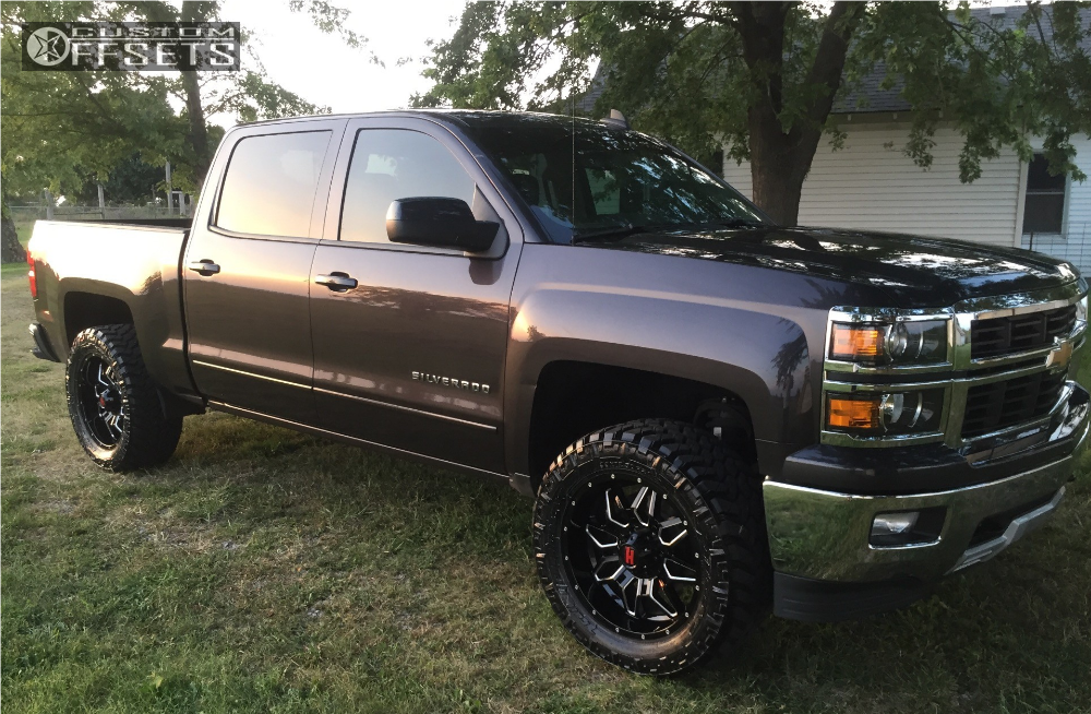 1 2015 Silverado 1500 Chevrolet Rough Country Leveling Kit Havok H109 Black